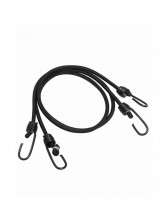 ЈАЖЕ BLACK ELASTIC SHOCK CORDS WITH HOOKS (PAIR)